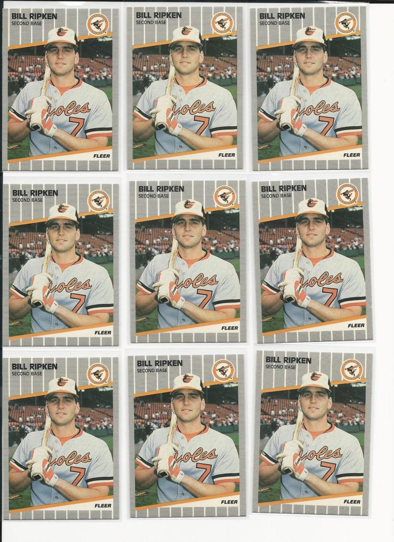 1989 Fleer Bill Ripken #616 NM Near Mint Black Box