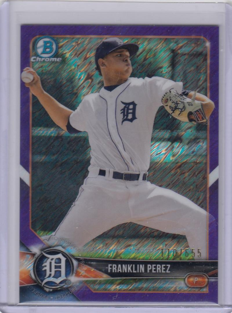 2018 Bowman Chrome #BCP185 Franklin Perez NM Near Mint RC Rookie 110/655