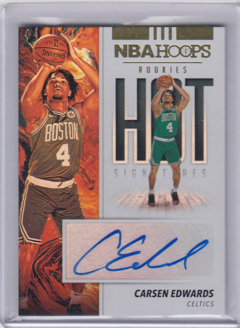 2019-20 Panini Hoops Hot Signatures #HR-CEW Carsen Edwards RC Rookie Auto