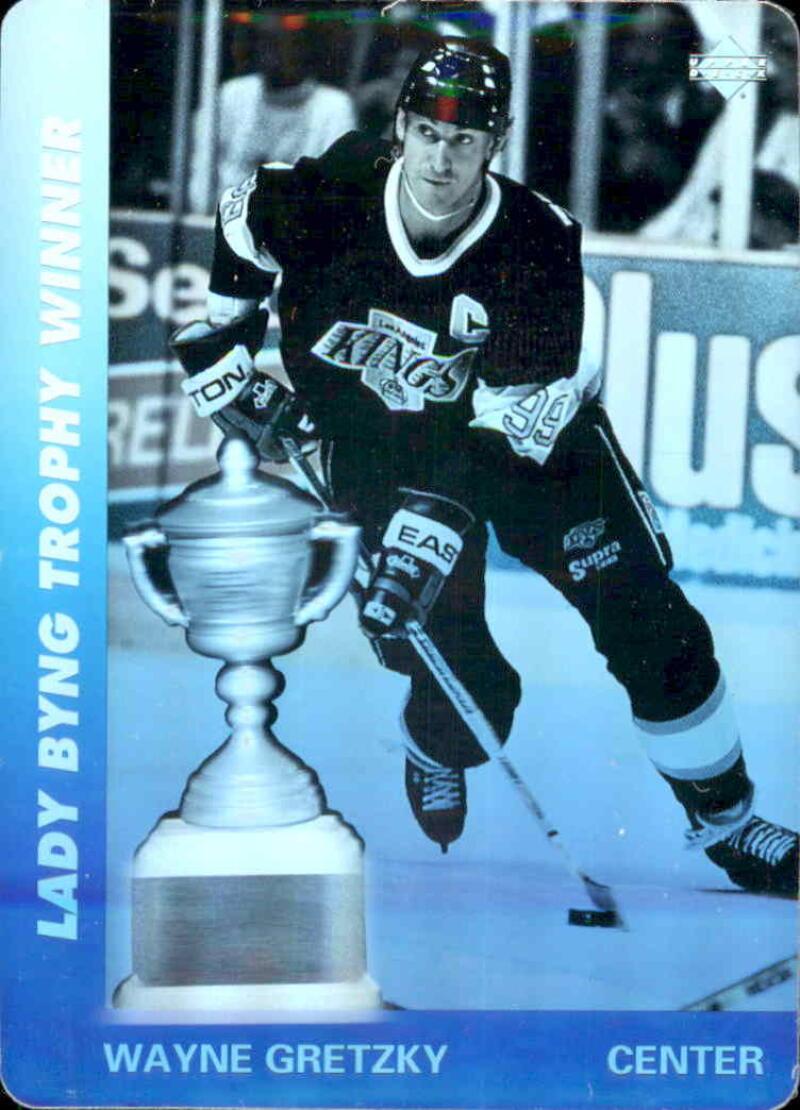 1991-92 Upper Deck Czech World Juniors Wayne Gretzky Lady Byng Hologram NM Near Mint