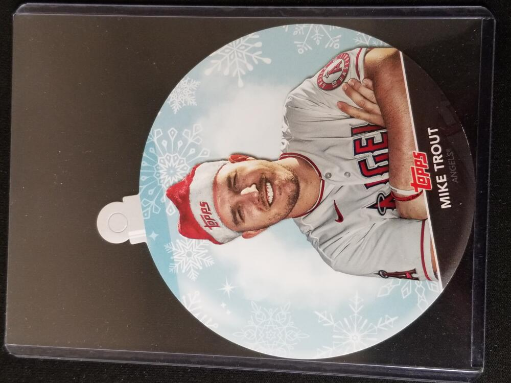 2020 Topps Holiday Oversized Ornaments Die-Cut #WHO-MT Mike Trout NM Near Mint