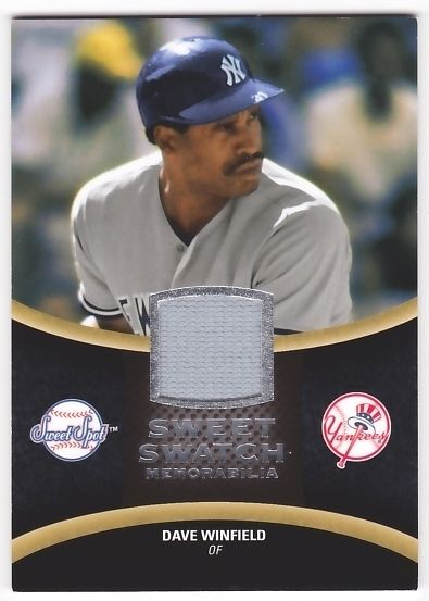 Dave Winfield 2008 Sweet Spot Swatches JSY