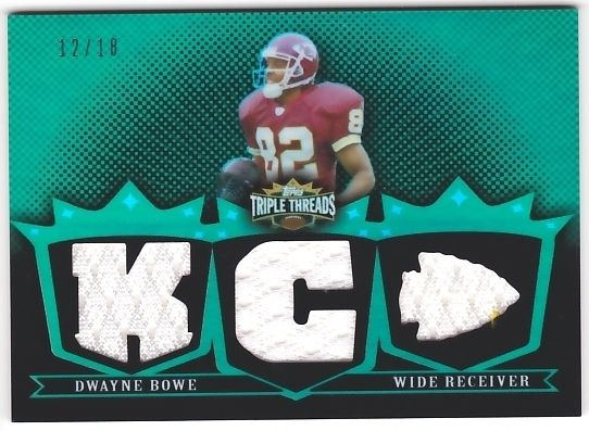 Dwayne Bowe 2007 Topps Triple Threads Relic Emerald JSY #12/18