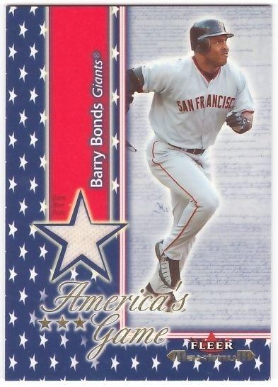 Barry Bonds 2002 Fleer Maximum Americas Game Jersey