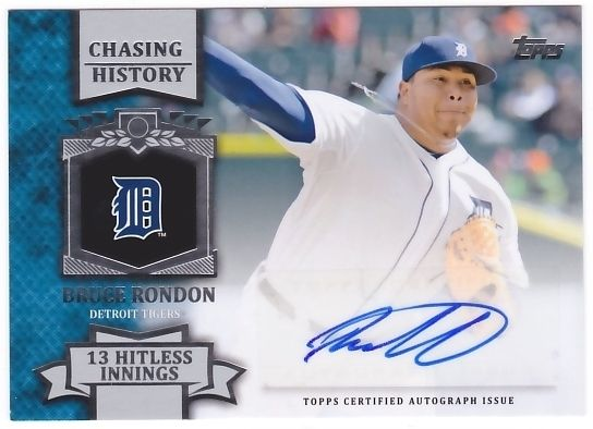 Bruce Rondon 2013 Topps Chasing History Autograph