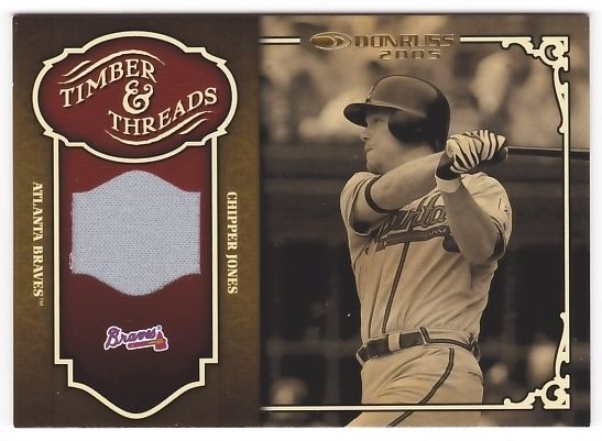 Chipper Jones 2005 Donruss Timber and Threads Jersey