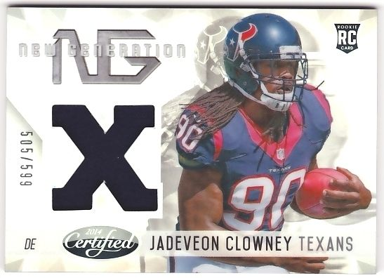 Jadeveon Clowney 2014 Certified New Generation Material JSY #505/599