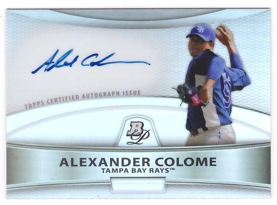 Alexander Colome 2010 Bowman Platinum Prospect Autograph Refractor
