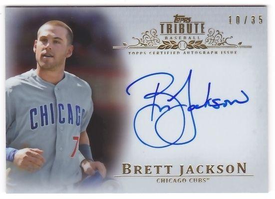 Brett Jackson 2013 Topps Tribute Autograph Sepia #10/35