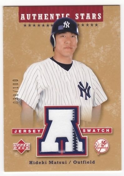 Hideki Matsui 2004 Upper Deck Authentic Stars Jersey Gold #38/100