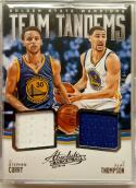 2015-16 Panini Absolute Team Tandems Stephen Curry / Klay Thompson #TT-GSW NM-MT MEM 29/99