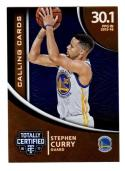 2016-17 Panini Totally Certified Calling Cards Stephen Curry #39 NM+