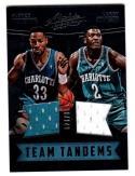 2016-17 Panini Absolute Team Tandems Alonzo Mourning / Larry Johnson #18 NM+ MEM 39/149