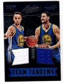 2016-17 Panini Absolute Team Tandems Stehpen Curry & Klay Thompson #1 NM+ MEM 141/149