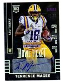 2015 Panini Contenders Draft Picks Bowl Ticket Terrence Magee #145 NM+ RC Rookie Auto 42/99