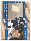 2002 03 Fleer Throwbacks Stickwork Rudy Poeschek # NM-MT+ MEM