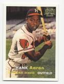 2002 Topps Archives 1957 Reprint Hank Aaron #168