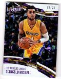 2016-17 Panini Panini Day Cracked Ice D'Angelo Russell #17 NM+ 7/25