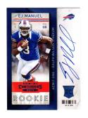2013 Panini Contenders Rookie E.J. Manuel #209 NM+ RC Rookie
