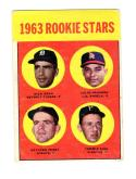 1963 Topps Dick Egan Julio Navarro Gaylord Perry Tommy Sisk #169 RC Rookie