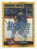 2016-17 O-Pee-Chee Platinum Seismic Gold Auto Chris Bigras #RCB NM Near Mint RC Rookie SP Auto 16/25