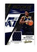 2017 18 Panini Absolute Memorabilia Donovan Mitchell #RM-DML NM Near Mint RC Rookie MEM 12/199