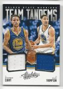 2015-16 Panini Absolute Stephen Curry Klay Thompson #TT-GSW NM Near Mint MEM 29/99