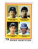 1978 Topps Paul Molitor Mickey Klutts Alan Trammell UL Washington #707 RC Rookie