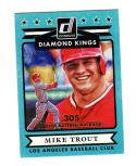 2015 Panini Donruss Diamond Kings Mike Trout #13 NM Near Mint 144/305