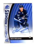 2017-18 Upper Deck SP Game Used Jack Roslovic #155 NM Near Mint RC Rookie Auto