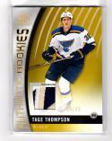 2017-18 Upper Deck SP Game Used Tage Thompson #97 NM Near Mint RC Rookie MEM 4/49