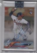 2018 Topps Clearly Authentic Ozzie Albies #CAA-OA NM Near Mint RC Rookie Auto