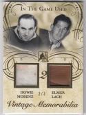 2016 Leaf ITG Vintage Memorabilia #VM2-10 Howie Morenz Elmer Lach NM Near Mint MEM 2/3