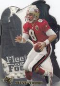 1997 E-X2000 Fleet of Foot Die-Cut #17 Steve Young NM Near Mint