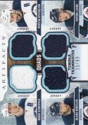 2017-18 Upper Deck Tundra Teammates #T4-WIN Mark Scheifele Dustin Byfuglien Blake Wheeler Patrik Laine NM Near Mint MEM 20/99