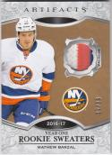 2016-17 Upper Deck Artifacts Rookie Sweaters #RS-MB Mathew Barzal NM Near Mint MEM 12/25