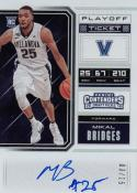 2018 Panini Contenders Playoff Ticket #60 Mikal Bridges NM Near Mint RC Rookie Auto 3/15