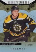 2017-18 Upper Deck Trilogy Rookie Premieres #80 Charlie McAvoy NM Near Mint RC Rookie 49/999