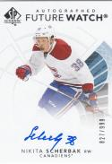 2017-18 Upper Deck SP Authentic Future Watch #138 Nikita Scherbak NM Near Mint RC Rookie Auto 827/999