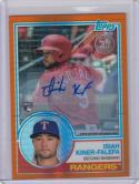2018 Topps 1987 Orange Refractor #123 Isiah Kiner-Falefa NM Near Mint RC Rookie Auto 6/25