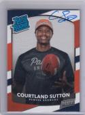 2018 Panini Rookie Premiere Rated Rookie Auto # Courtland Sutton NM Near Mint RC Rookie Auto