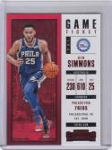 2017-18 Panini Contenders Game Ticket Red Foil #25 Ben Simmons NM Near Mint RC Rookie