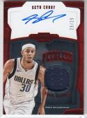 2018-19 Panini Dominion Peerless #PJ-SCY Seth Curry NM Near Mint MEM Auto 25/25