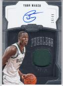2018-19 Panini Dominion Peerless #PJ-TMK Thon Maker NM Near Mint MEM Auto 14/49