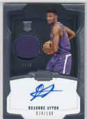 2018-19 Panini Dominion #160 Deandre Ayton NM Near Mint RC Rookie MEM Auto 74/199