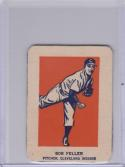 1952 Wheaties Action Hand Cut # Bob Feller