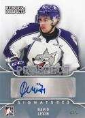 2015-16 ITG Leaf Heroes & Prospects #PS-DL1 David Levin NM Near Mint Auto 4/5