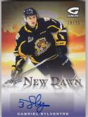 2015-16 Leaf ITG Heroes & Prospects #ND-GS1 Gabriel Sylvestre NM Near Mint Auto 10/15