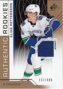 2018-19 Upper Deck SP Game Used #200 Elias Pettersson NM Near Mint RC Rookie MEM 157/499