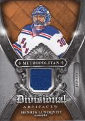 2018-19 Upper Deck Artifacts Divisional #DA-HL Henrik Lundqvist NM Near Mint MEM